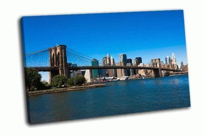 Картина бруклинский мост и манхэттен