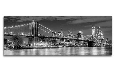 Картина бруклинский мост, манхэттен ночью