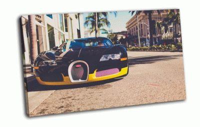 Картина bugatti veyron в калифорнии