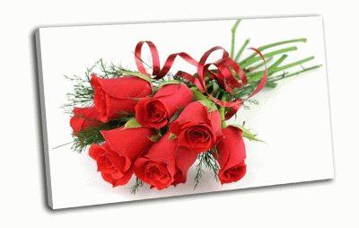 Картина букет красных роз