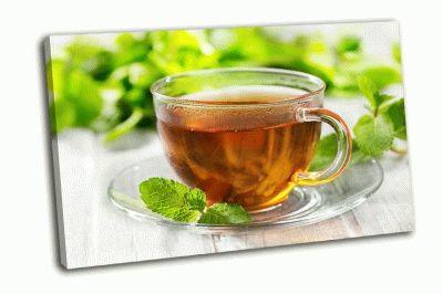 Картина чашка чая с мятой