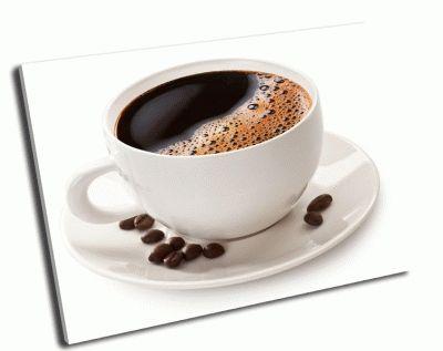 Картина чашка кофе и кофейные зерна