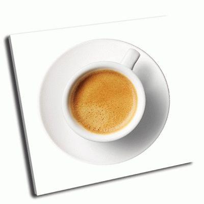 Картина чашка кофе на белом фоне