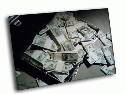Картина чемодан с деньгами 2