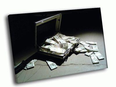 Картина чемодан с деньгами