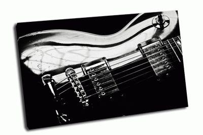 Картина черная гитара