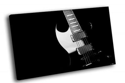 Картина черно белая гитара