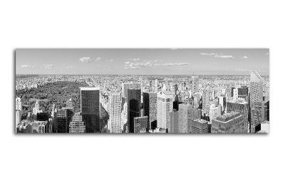 Картина черно-белая панорама нью-йорка