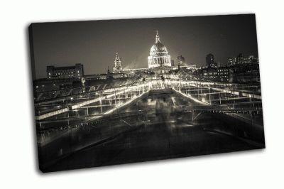 Картина черно-белый лондон