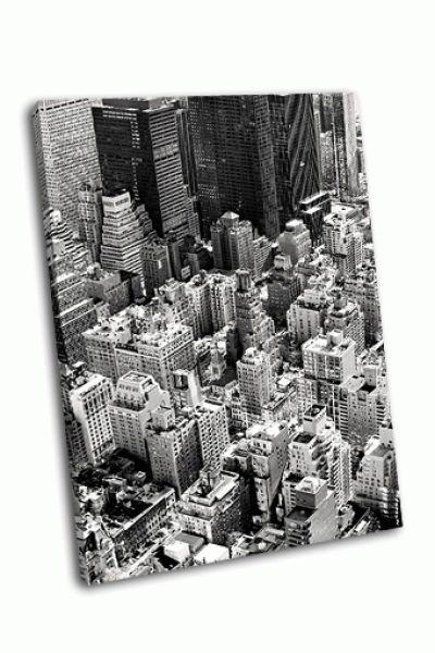 Картина черно-белый нью-йорк