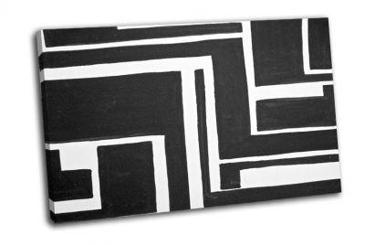 Картина черно-белый окрашенный фон