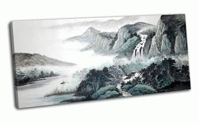 Картина черно-белый пейзаж