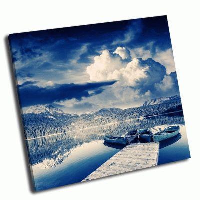 Картина черное озеро в парке дурмитор