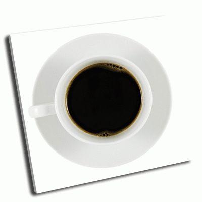 Картина черный кофе в белой чашке