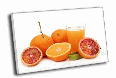 Картина цитрусовые и сок