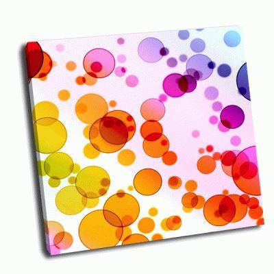 Картина цветные круги на белом