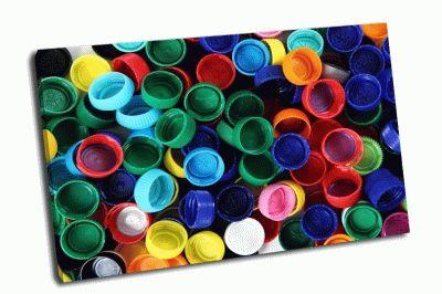 Картина цветные крышки