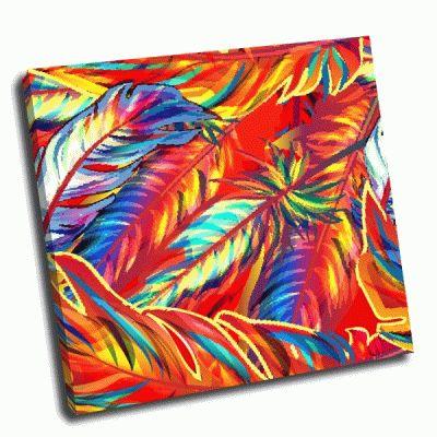 Картина цветные перышки