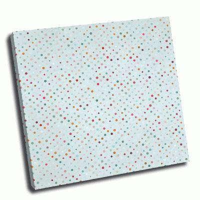 Картина цветные точки на голубом