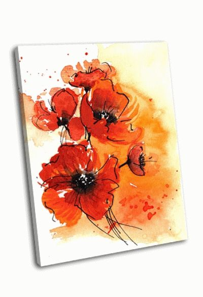 Картина цветочная роспись