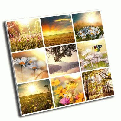 Картина цветочный коллаж