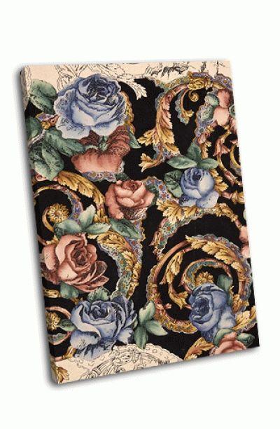 Картина цветок росписью