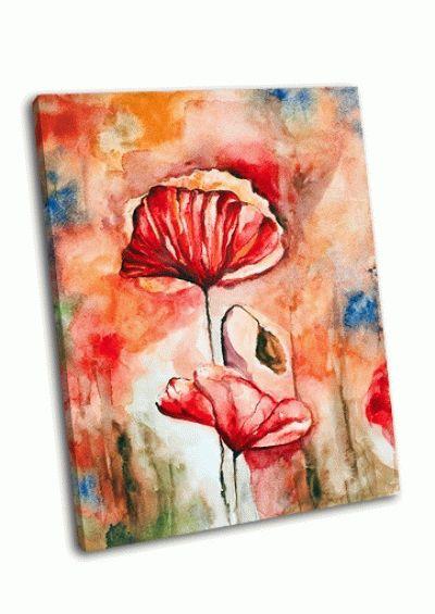 Картина цветущий мак