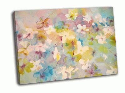 Картина цветы батик