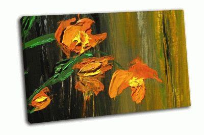 Картина цветы маслом