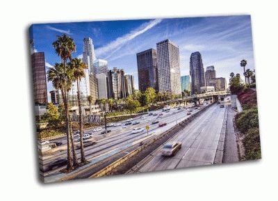 Картина деловой район лос-анджелеса