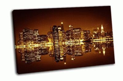 Картина деловой район манхэттена