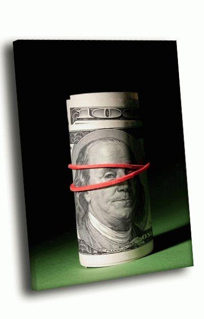 Картина деньги в резинке