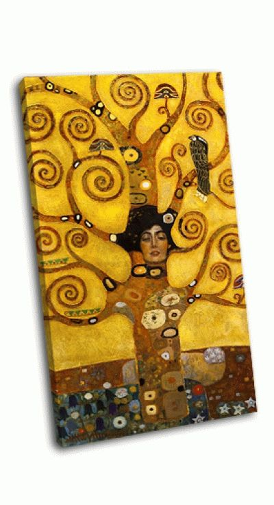 Картина дерево абстрактного кручения маслом