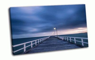 Картина деревянный мост