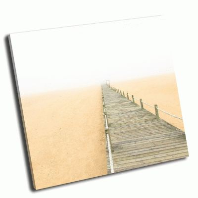 Картина деревянный пешеходный мост