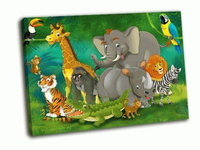 Картина детский мультфильм сафари