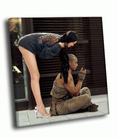 Картина девочка и монах