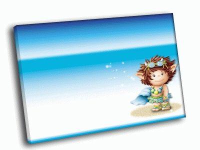 Картина девочка на пляже