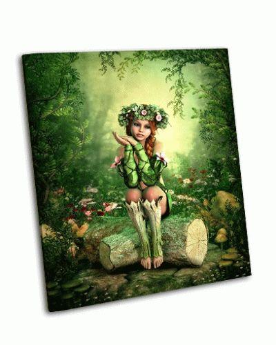 Картина девушка с венком на голове
