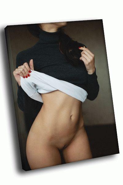 Картина девушка в бадлоне