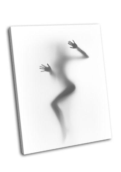 Картина диффузный силуэт женщины