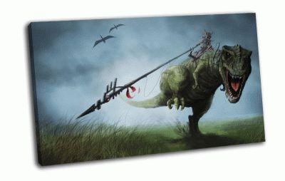 Картина динозавр