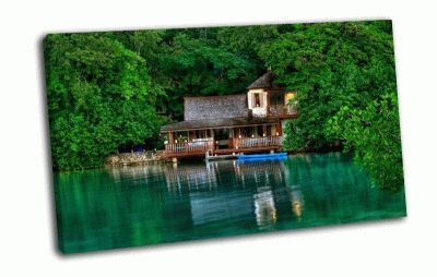 Картина дом в ямайке