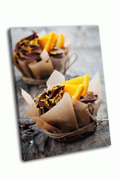 Картина домашние кексы с апельсином и шоколадом