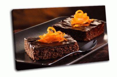 Картина домашние шоколадные брауни