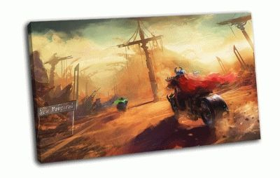 Картина дорога, мотоциклы