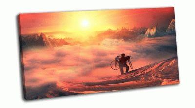 Картина дорожные велосипедные приключения