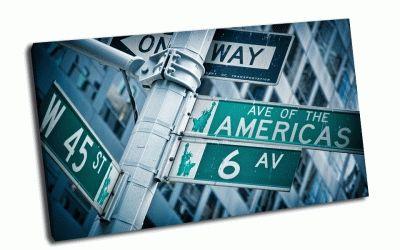 Картина дорожные знаки америики