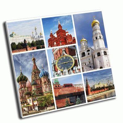 Картина достопримечательности москвы