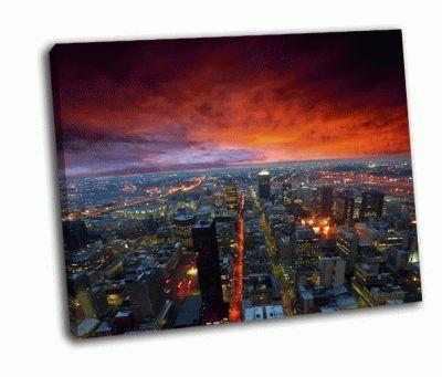 Картина драматическое небо над городом